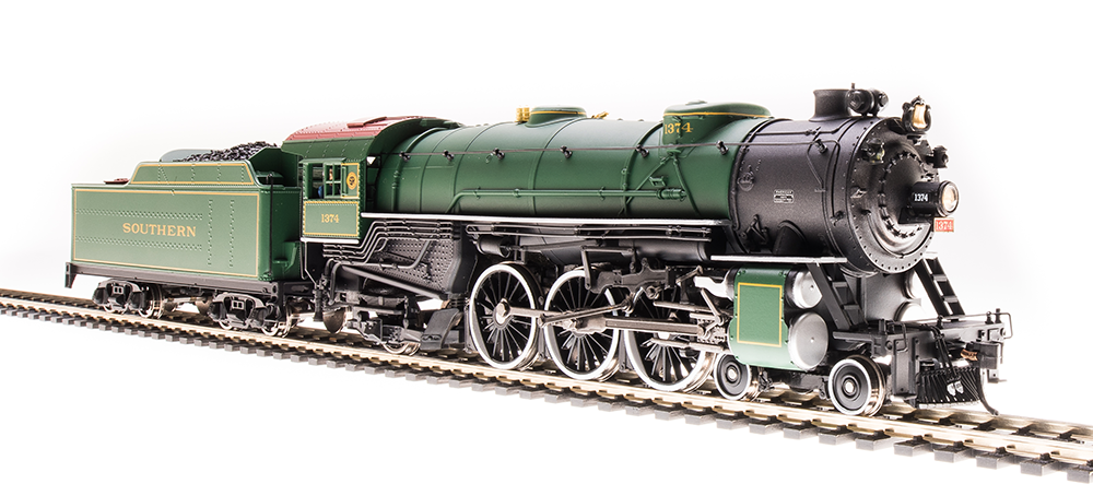 Broadway Limited HO Heavy Pacific 4-6-2, SOU 1381, Southern Green - DCC + Sound
