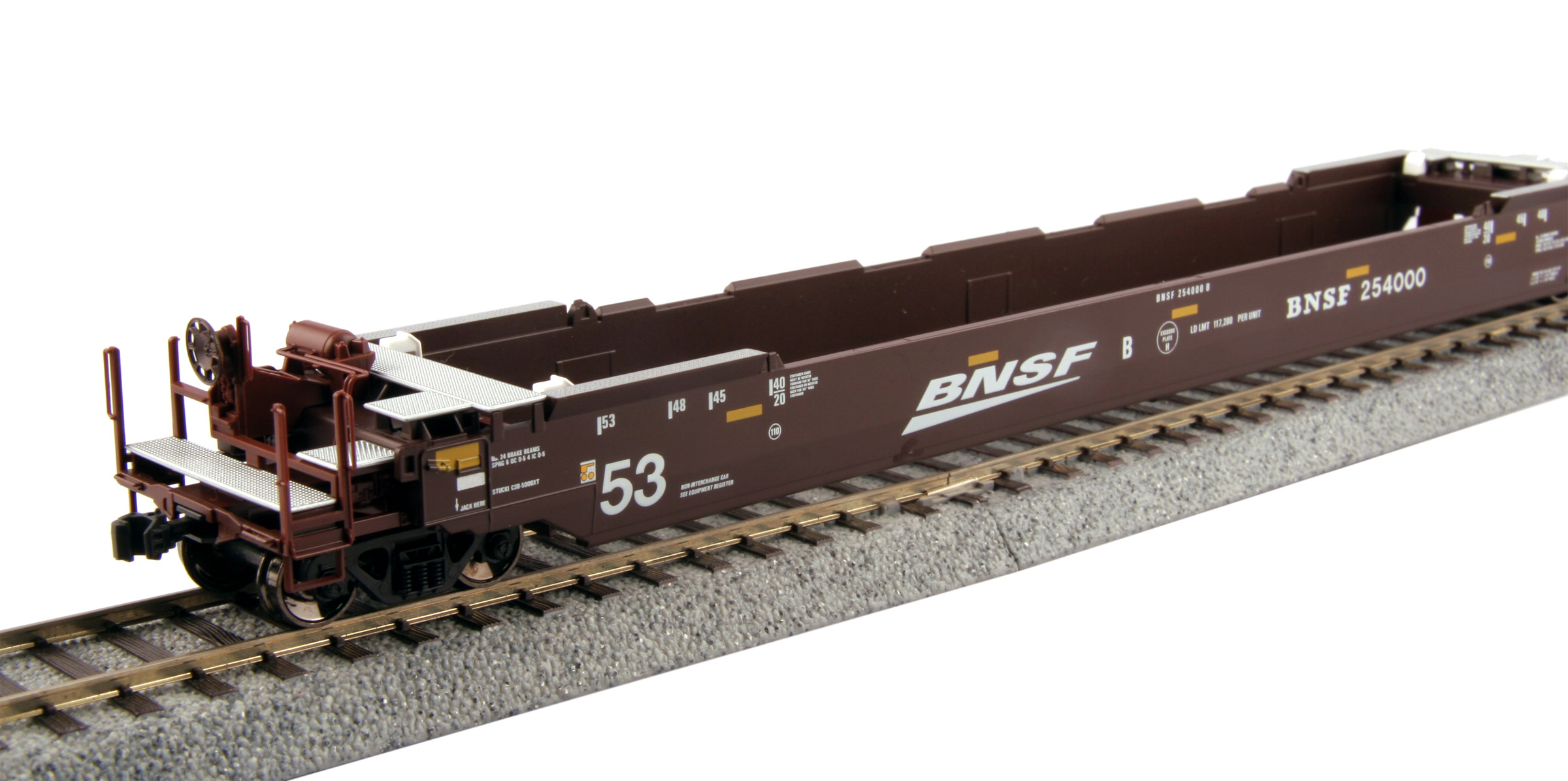 "KATO HO Gunderson MAXI-IV Double Stack Well Car - BNSF ""old Logo"" #253411"