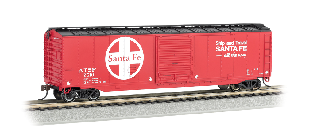 Bachmann HO 50 FT Sliding Door Box Car - Santa Fe