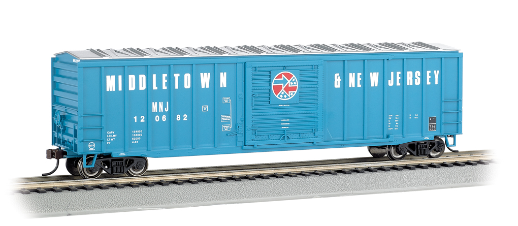 Bachmann HO 50.5 FT Outside Braced Box Car - Middletown & New Jersey