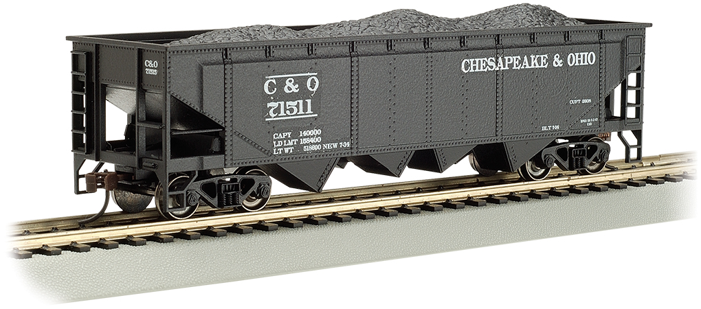 Bachmann HO 40 FT 4-Bay Hopper - Chesapeake & Ohio® #71511