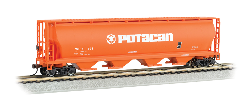 Bachmann HO 4 Bay Cylindrical Grain Hopper - POTACAN