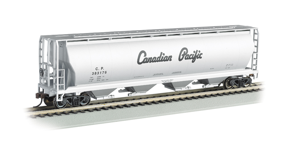 Bachmann HO 4 Bay Cylindrical Grain Hopper - Canadian Pacific