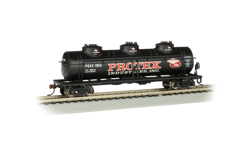 Bachmann HO 40 FT Three-Dome Tank Car - Protex Industries