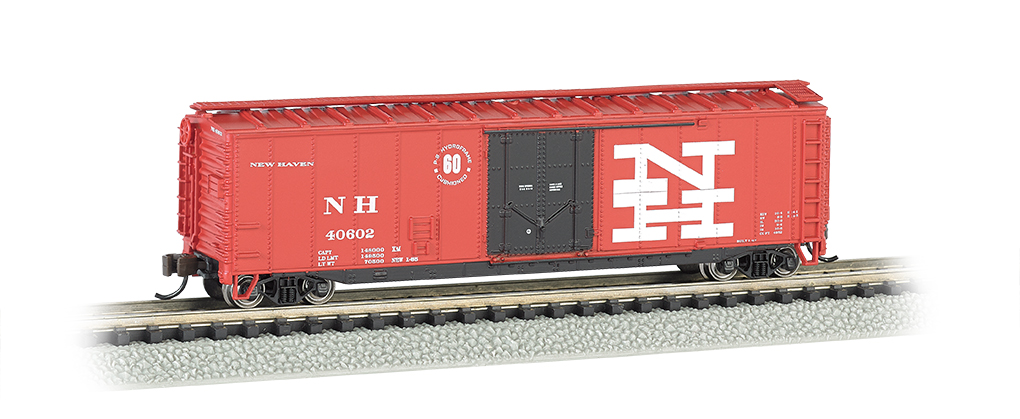 Bachmann N 50 FT Plug-Door Box Car - New Haven