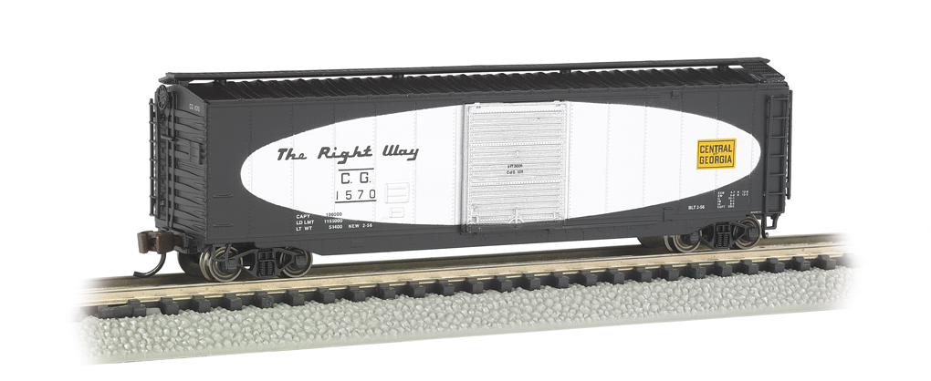 Bachmann N 50 FT Sliding Door Box Car - Central Of Georgia