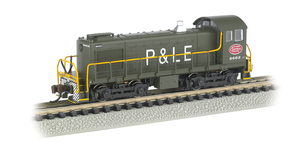 Bachmann N ALCO S4 - New York Central System - P&LE #8662 - DCC