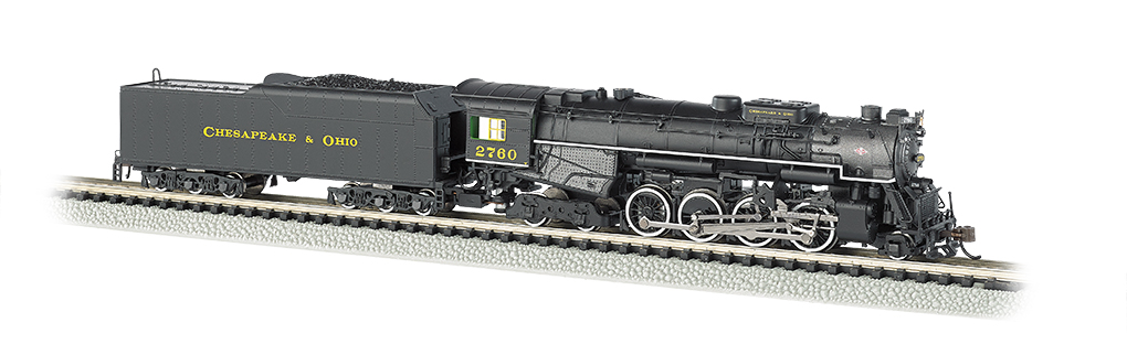 Bachmann N 2-8-4 Berkshire - C&O® Kanawha #2760 - DCC + Sound