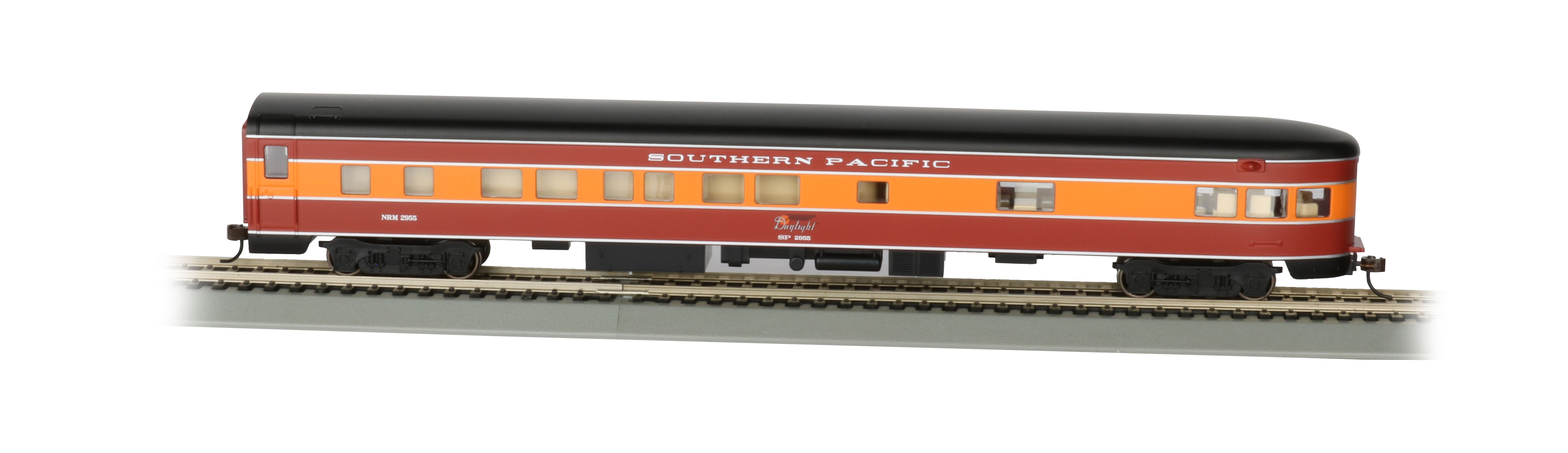 Bachmann HO Smooth-Side Observation Car - SP Daylight