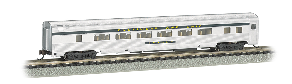 Bachmann N 85 FT Fluted Sides Door Coach car - B&O® Silver