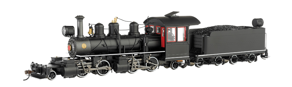 Bachmann On30 Baldwin 2-4-4-2 Articulated - Black Wood Cab / White Stripe - DCC
