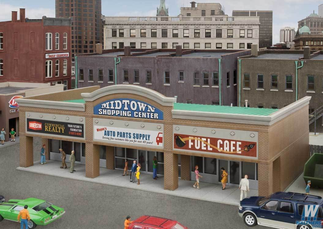 Walthers #933-4116 Modern Shopping Center II - HO Scale Kit