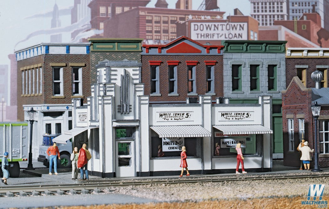 Walthers #933-3030 White Tower Restaurant - HO Scale Kit