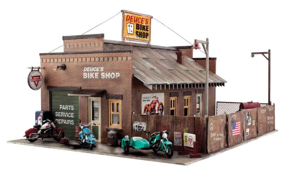 Woodland Scenics Deuce's Bike Shop - O Scale