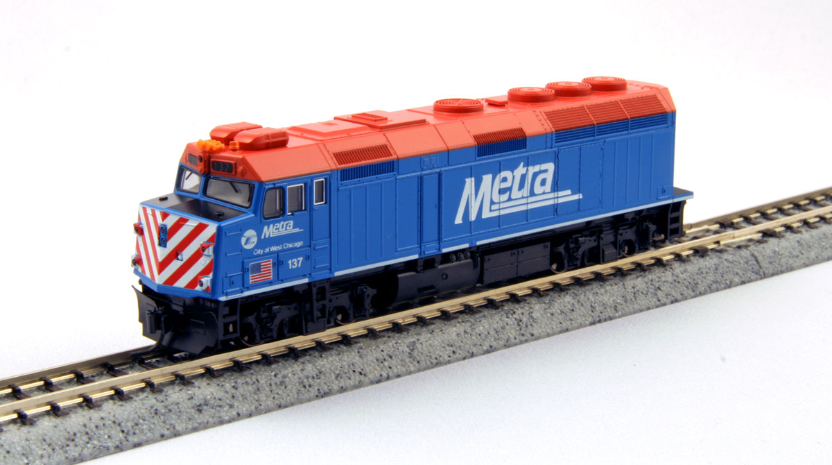 "KATO N EMD F40PH Chicago Metra  ""City of West Chicago"""