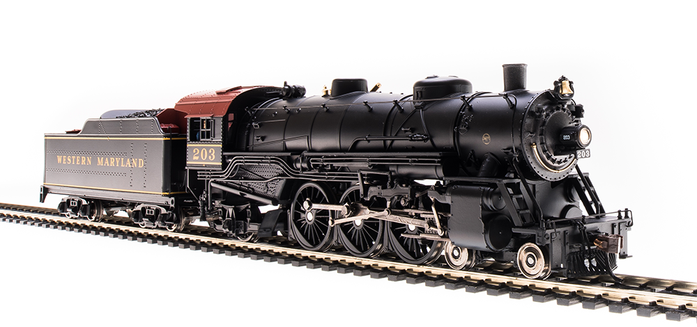 Broadway Limited HO Heavy Pacific 4-6-2, WM #203 - DCC + Sound