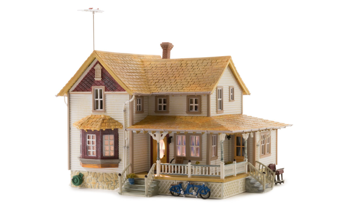 Woodland Scenics Corner Porch House - HO Scale