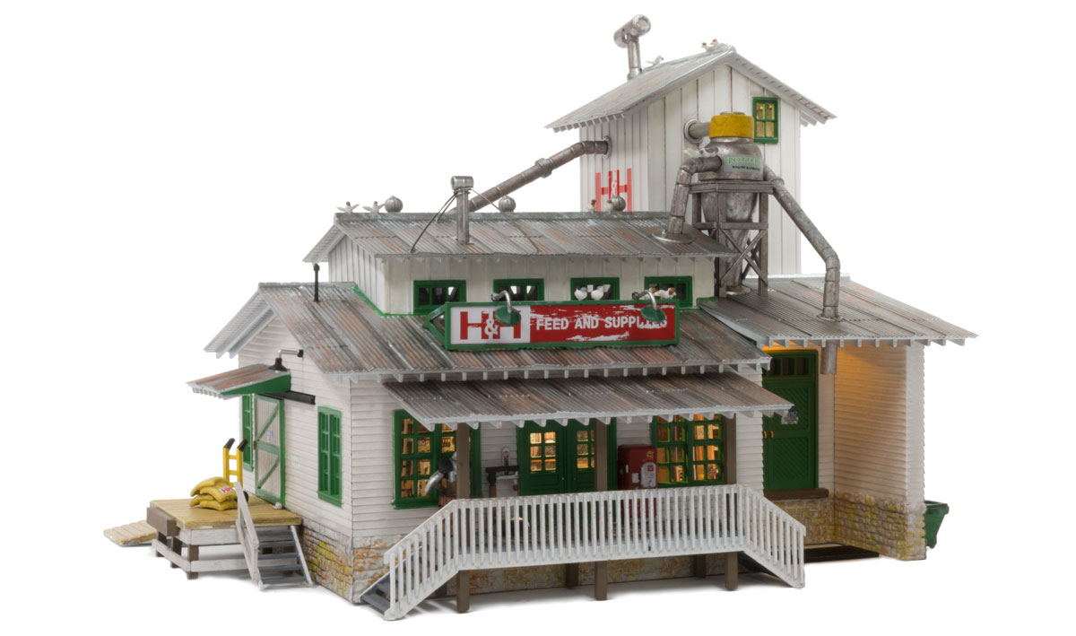 Woodland Scenics H&H Feed Mill - HO Scale