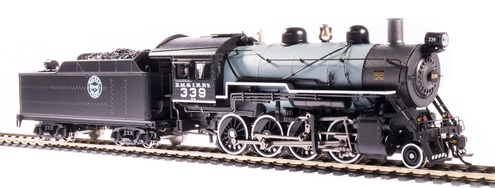 Broadway Limited HO 2-8-0 Consolidation, DM&IR #339, Gray Boiler, DCC+Sound