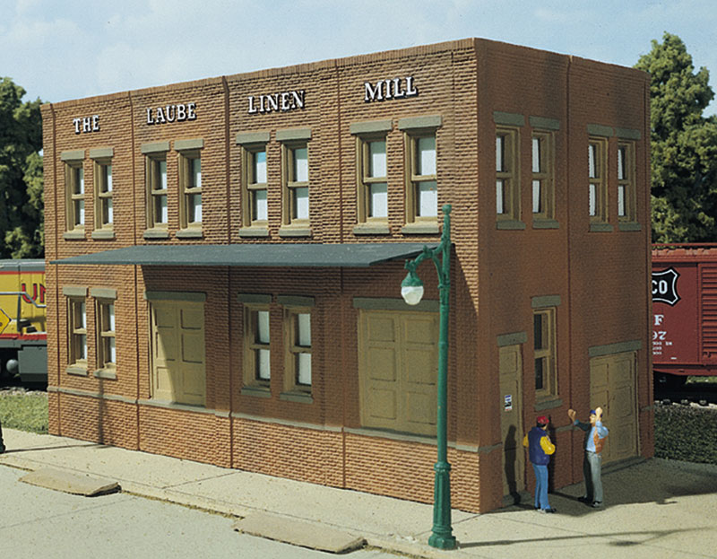 Woodland Scenics Laube's Linen Mill - HO Scale Kit