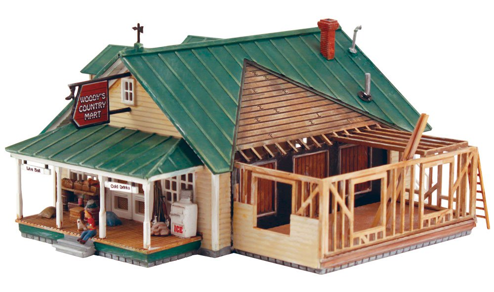 Woodland Scenics Woody's Country Mart - HO Scale Kit