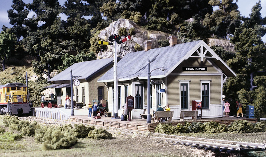Woodland Scenics Coal River Passenger & Freight Depot - HO Scale Kit