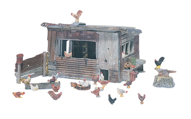 Woodland Scenics Chicken Coop - HO Scale Kit
