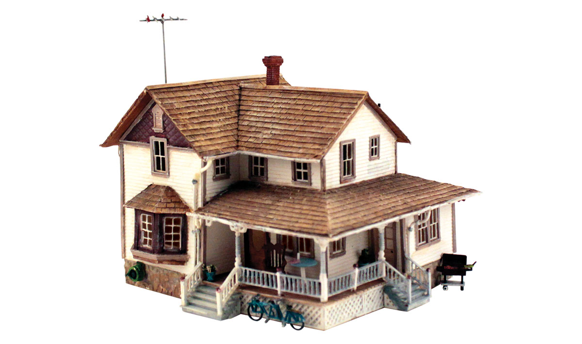 Woodland Scenics Corner Porch House - HO Scale Kit