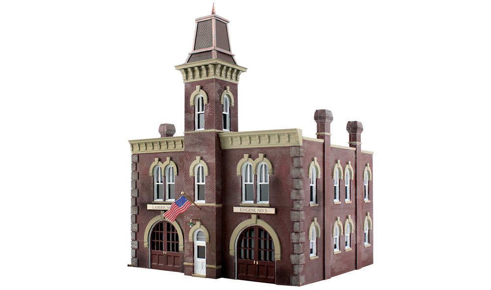 Woodland Scenics Fire Station No 3 - N Scale Kit