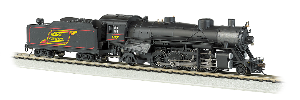 Bachmann HO Light Mikado 2-8-2 - Maine Central #617 - DCC + Sound