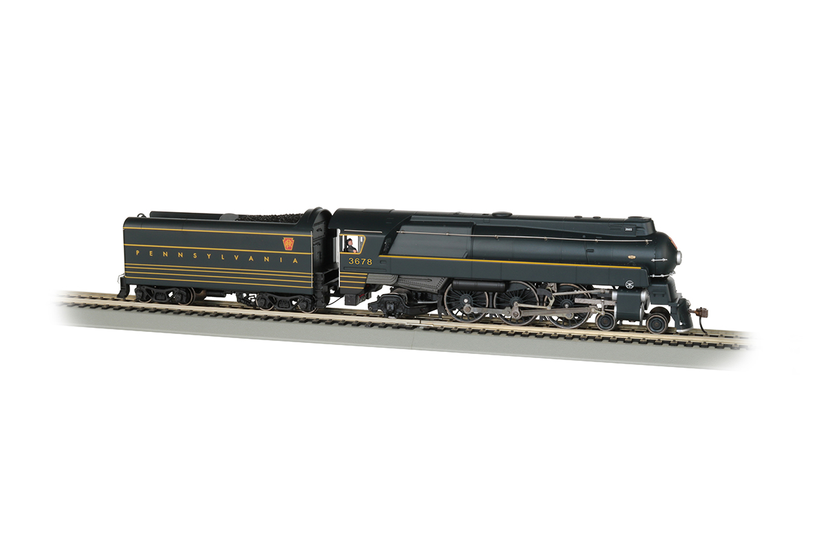 Bachmann HO Streamlined K4 4-6-2 - PRR #3678 - DCC + Sound