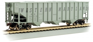 Bachmann HO 100-Ton 3-Bay Hopper - Western Maryland® #63772