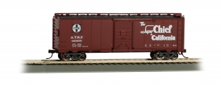 Bachmann HO 40 FT Santa Fe Map Box Car - Super Chief