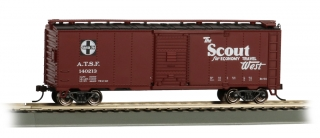 Bachmann HO 40 FT Santa Fe Map Box Car - Scout