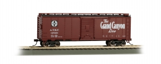 Bachmann HO 40 FT Santa Fe Map Box Car - Grand Canyon