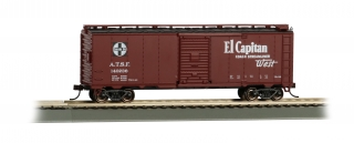 Bachmann HO 40 FT Santa Fe Map Box Car - El Capitan