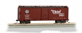 Bachmann HO 40 FT Santa Fe Map Box Car - Chief