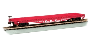 Bachmann HO 52 FT Flat Car - Santa Fe