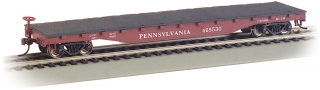 Bachmann HO 52 FT Flat Car - Pennsylvania