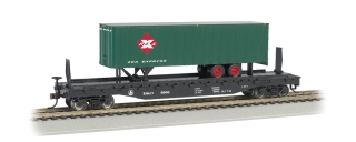 Bachmann HO 52 FT Flat Car + 35 FT Trailer - B&O®