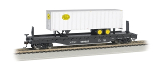 Bachmann HO 52 FT Flat Car + 35 FT Trailer - New York Central