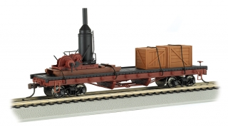 Bachmann HO 40 Log Car + Log Skidder