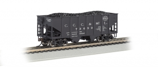 Bachmann HO 55-Ton 2-Bay Hopper - NYC - Big Four