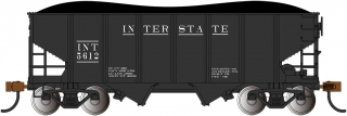 Bachmann HO 55-Ton 2-Bay Hopper - Interstate #5612