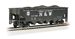 Bachmann HO 40 FT 4-Bay Hopper - Norfolk & Western #12986