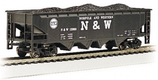 Bachmann HO 40 FT 4-Bay Hopper - Norfolk & Western