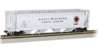 Bachmann HO 4 Bay Cylindrical Grain Hopper - Great Northern