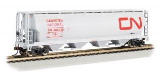 Bachmann HO 4 Bay Cylindrical Grain Hopper - Canadian National