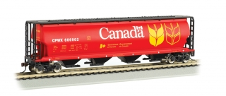 Bachmann HO 4 Bay Cylindrical Grain Hopper - Canada Grain