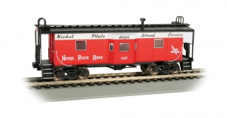 Bachmann HO Bay Window Caboose - Nickel Plate Road